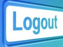 Icono del azul de Internet de la salida del sistema Stock de ilustración