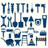 Icono del azul de las herramientas de funcionamiento Fotografía de archivo