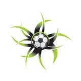 Icono del balón de fútbol Imágenes de archivo libres de regalías