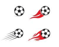 Icono del balón de fútbol Ejemplo de Logo Vector ilustración del vector