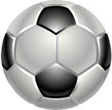 Icono del balón del balompié o de fútbol Fotografía de archivo