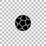 Icono del bal?n de f?tbol plano stock de ilustración