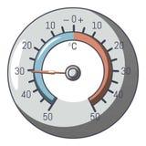 Icono del barómetro, estilo de la historieta stock de ilustración