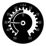 Icono del barómetro, estilo simple libre illustration