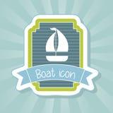Icono del barco Imágenes de archivo libres de regalías