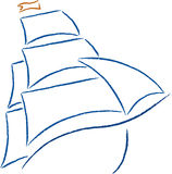 Icono del barco Imagenes de archivo