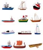 Icono del barco de la historieta Foto de archivo