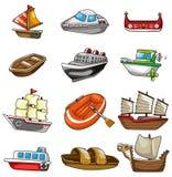Icono del barco de la historieta Imagen de archivo