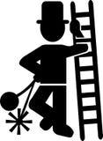 Icono del barrido de chimenea ilustración del vector