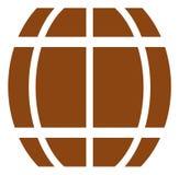 Icono del barril del vector stock de ilustración