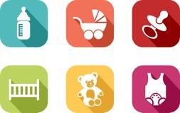 Icono del bebé Imágenes de archivo libres de regalías