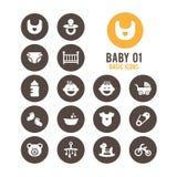 Icono del bebé Bebé lindo Ilustración del vector Fotografía de archivo