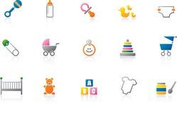 Icono del bebé fijado - color ilustración del vector