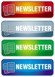 Icono del boletín de noticias Imágenes de archivo libres de regalías