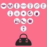Icono del bolso Foto de archivo libre de regalías