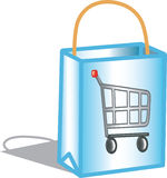 Icono del bolso de compras Fotos de archivo
