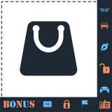 Icono del bolso de compras completamente ilustración del vector