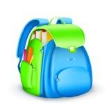 Icono del bolso de escuela Fotografía de archivo libre de regalías
