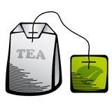 Icono del bolso de té verde Fotos de archivo