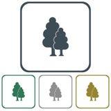 Icono del bosque de hojas caducas Imagen de archivo