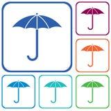 Icono del bosquejo del paraguas Foto de archivo