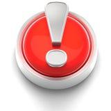 Icono del botón: ¡! Imágenes de archivo libres de regalías