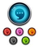 Icono del botón de la charla Imagenes de archivo
