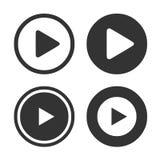 Icono del botón de reproducción Imagen de archivo libre de regalías