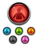 Icono del botón de Santa Foto de archivo