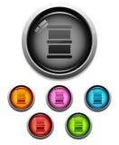 Icono del botón del barril de petróleo Foto de archivo libre de regalías