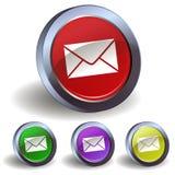 Icono del botón del email Foto de archivo libre de regalías