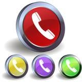 Icono del botón del teléfono del Internet Foto de archivo