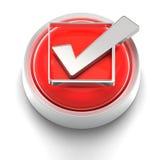Icono del botón: Marca de cotejo Imagen de archivo libre de regalías