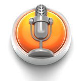 Icono del botón: Mic stock de ilustración