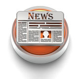 Icono del botón: Noticias stock de ilustración