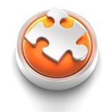Icono del botón: Rompecabezas Fotografía de archivo