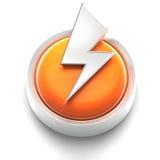 Icono del botón: tornillo de relámpago stock de ilustración