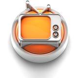 Icono del botón: TV stock de ilustración