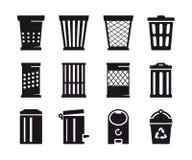 Icono del bote de basura Fotografía de archivo libre de regalías