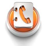 Icono del botón: Agenda Foto de archivo libre de regalías
