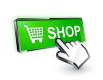 Icono del botón de las compras Fotos de archivo libres de regalías