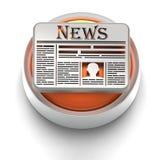 Icono del botón: Noticias Fotos de archivo libres de regalías