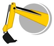 Icono del brazo de la niveladora ilustración del vector