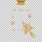 Icono del brillo del oro Imágenes de archivo libres de regalías