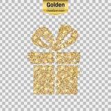 Icono del brillo del oro Imagen de archivo libre de regalías
