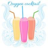Icono del cóctel del oxígeno con la paja Fotos de archivo