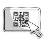 Icono del código de Qr ilustración del vector