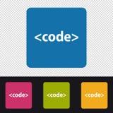 Icono del código - muestra de programación del lenguaje - ejemplo colorido del vector Fotografía de archivo libre de regalías