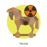 Icono del caballo de Troya Imágenes de archivo libres de regalías