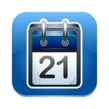 Icono del calendario Imagen de archivo libre de regalías